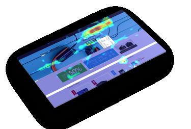 Beispiel Heatmap, Tool clicktale